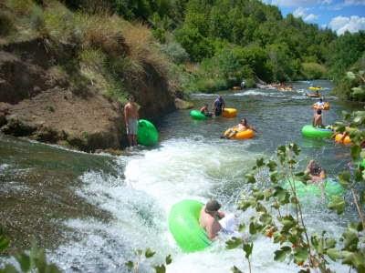 Lava Hot Springs, Idaho, Tubing