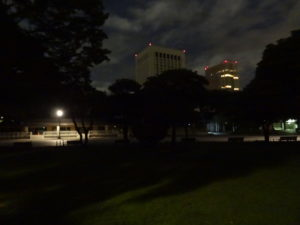 Imperial Palace Urban Camping Japan